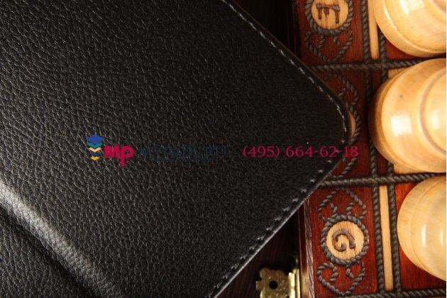 Чехол обложка для lg g pad 10.1 v700 черный кожаный
