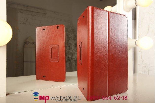 Чехол-сумка для lg g pad 10.1 коричневый кожаный