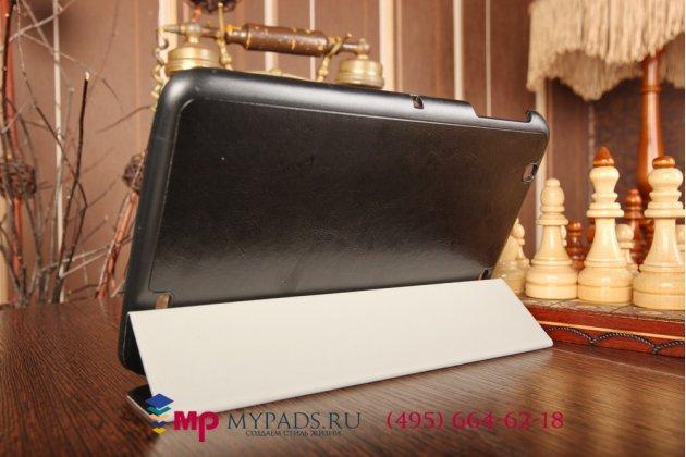 """Умный чехол-книжка самый тонкий в мире для lg g pad 10.1 v700 """"il sottile"""" черный кожаный италия"""