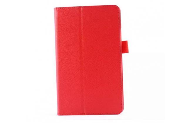 Чехол для lg g pad 8.0 v480/v490 красный кожаный