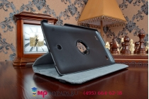 Чехол для lg g pad 8.0 v480/v490 поворотный роторный оборотный черный кожаный