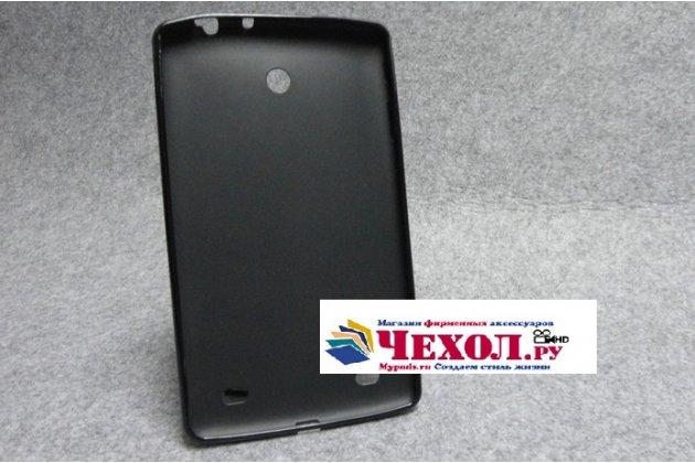 Ультра-тонкая полимерная из мягкого качественного силикона задняя панель-чехол-накладка для lg g pad 8.0 v480/v490  черная