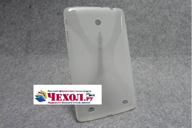 Ультра-тонкая полимерная из мягкого качественного силикона задняя панель-чехол-накладка для lg g pad 8.0 v480/v490  белая
