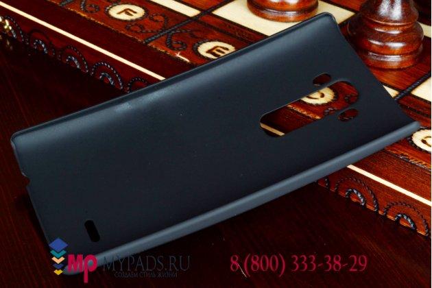 Задняя панель-крышка-накладка из тончайшего и прочного пластика для lg g flex 2 (h959) черная