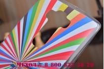 """Ультра-тонкая полимерная из мягкого качественного силикона задняя панель-чехол-накладка для lg g flex 2 (h959)  тематика """"все цвета радуги"""""""