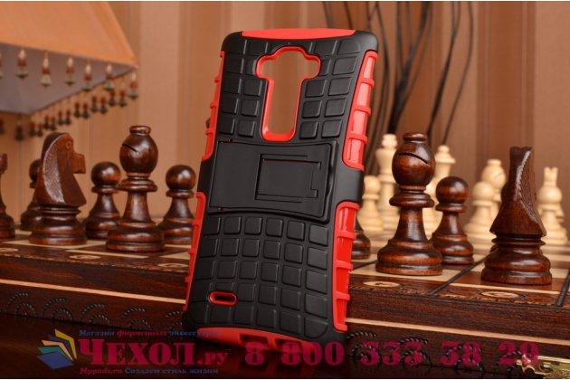 Противоударный усиленный ударопрочный чехол-бампер-пенал для lg g flex 2 (h959) красный