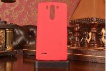 Задняя панель-крышка-накладка из тончайшего и прочного пластика для lg g3s mini d724/d722 красная