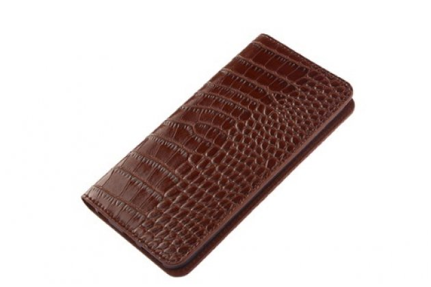 """Роскошный эксклюзивный чехол из лаковой кожи крокодила коричневый для lg class h740 /h650e 5.0"""""""