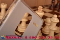 """Ультра-тонкая полимерная из мягкого качественного силикона задняя панель-чехол-накладка для lg class h740 /h650e 5.0"""" белая"""