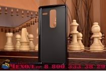 """Ультра-тонкая полимерная из мягкого качественного силикона задняя панель-чехол-накладка для lg class h740 /h650e 5.0"""" черная"""