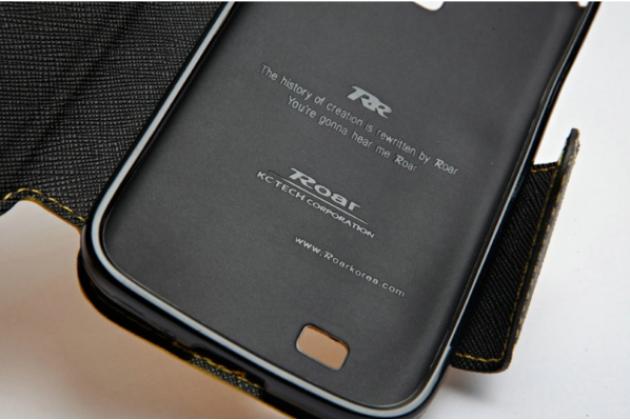 Чехол-книжка для lg g flex 2 (h959)  черный с окошком для входящих вызовов водоотталкивающий