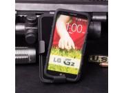 Противоударный усиленный ударопрочный фирменный чехол-бампер-пенал для LG G2 (D802) черный..
