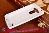 Ультра-тонкая полимерная из мягкого качественного силикона задняя панель-чехол-накладка для lg g3 s mini d724/d722 белая