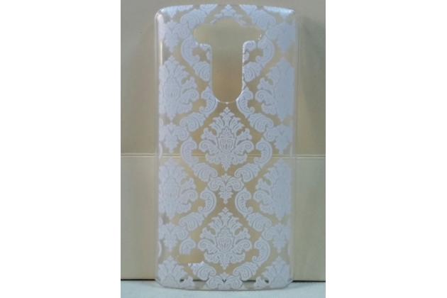 Роскошная задняя панель-чехол-накладка с расписным узором для lg g3 s mini d724/d722 прозрачная белая