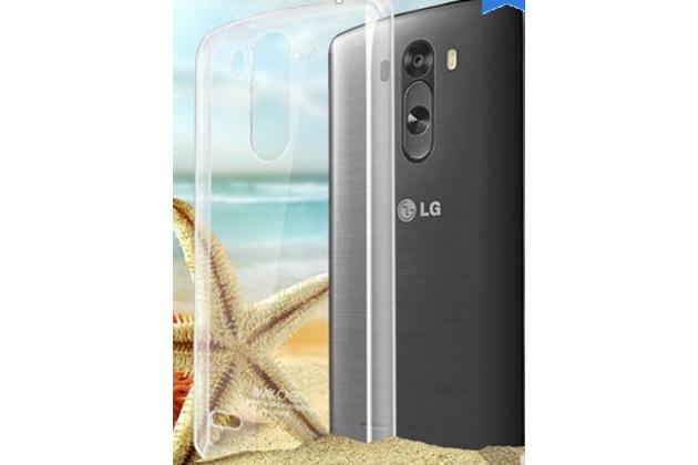 Задняя панель-крышка-накладка из тончайшего и прочного пластика для lg g3 s mini d724/d722 прозрачная