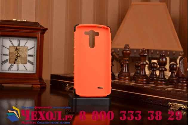 Противоударный усиленный ударопрочный чехол-бампер-пенал для lg g3 s mini d724/d722 оранжевый