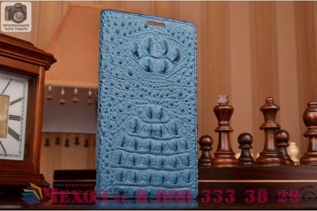 Роскошный эксклюзивный чехол с объёмным 3d изображением рельефа кожи крокодила синий для lg g4 h815/h818. только в нашем магазине. количество ограничено