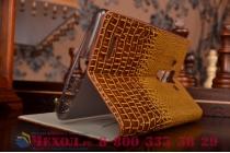 Роскошный эксклюзивный чехол с объёмным 3d изображением кожи крокодила коричневый для lg g4 h815/h818 . только в нашем магазине. количество ограничено