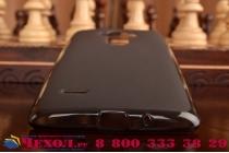 Ультра-тонкая полимерная из мягкого качественного силикона задняя панель-чехол-накладка для  lg g4 stylus h540f / h635a / ls770 черная