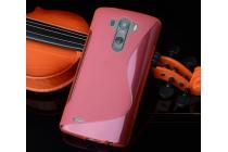 Ультра-тонкая полимерная из мягкого качественного силикона задняя панель-чехол-накладка для lg g4 stylus h540f / h635a / ls770 красная