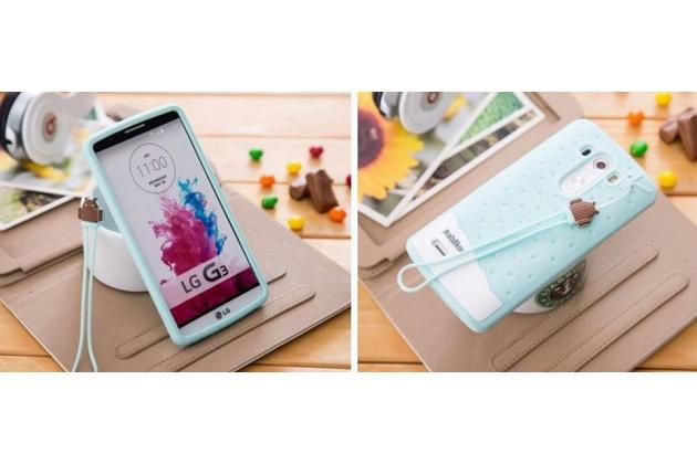 """Необычная уникальная полимерная мягкая задняя панель-чехол-накладка для lg g4 stylus h540f / h635a / ls770 """"тематика андроид в мятном  шоколаде"""""""