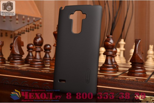Задняя панель-крышка-накладка из тончайшего и прочного пластика для lg g4 stylus h540f / h635a / ls770 черная