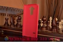 Задняя панель-крышка-накладка из тончайшего и прочного пластика для lg g4 stylus h540f / h635a / ls770 красная