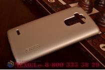Задняя панель-крышка-накладка из тончайшего и прочного пластика для lg g4 stylus h540f / h635a / ls770  золотая