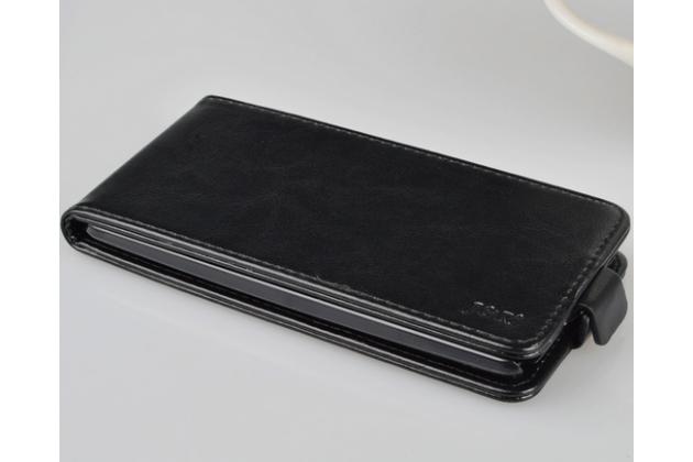 """Вертикальный откидной чехол-флип для  lg g4 stylus h540f / h635a / ls770 черный из натуральной кожи """"prestige"""" италия"""