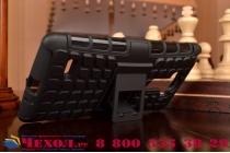 Противоударный усиленный ударопрочный чехол-бампер-пенал для lg g4 stylus h540f / h635a / ls770 черный