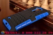 Противоударный усиленный ударопрочный чехол-бампер-пенал для lg g4 stylus h540f / h635a / ls770 синий