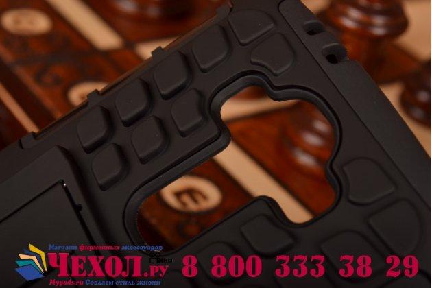 Противоударный усиленный ударопрочный чехол-бампер-пенал для lg g4 черный