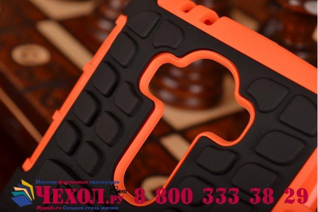 Противоударный усиленный ударопрочный чехол-бампер-пенал для lg g4 оранжевый