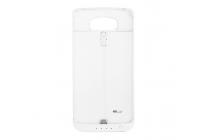 """Чехол-бампер со встроенной усиленной мощной батарей-аккумулятором большой повышенной расширенной ёмкости 3800mah для lg g4 h815 / h818"""" белый + гарантия"""