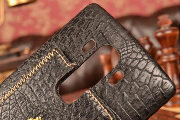 Роскошная элитная премиальная задняя панель-крышка для lg g4 из лаковой кожи крокодила черная