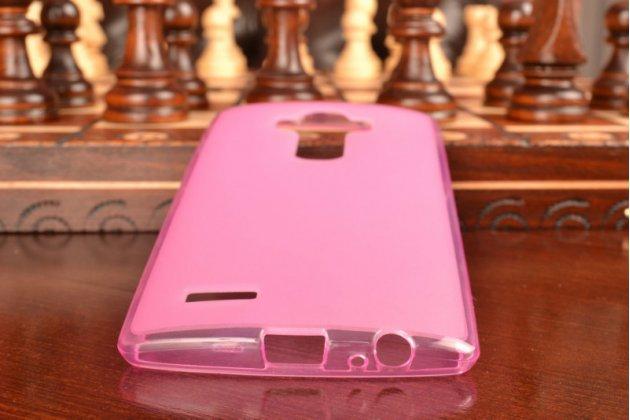 Ультра-тонкая силиконовая задняя панель-чехол-накладка для lg g4 розовая