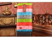 Фирменная неповторимая экзотическая панель-крышка обтянутая кожей крокодила с фактурным тиснением для LG G4 H8..