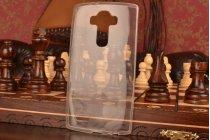 Ультра-тонкая из мягкого качественного пластика задняя панель-чехол-накладка для lg g4 прозрачная