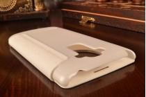 Чехол-книжка для lg g4 stylus h540f / h635a / ls770 белый кожаный с окошком для входящих вызовов