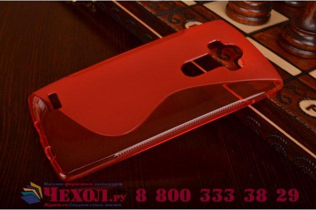 Ультра-тонкая полимерная из мягкого качественного силикона задняя панель-чехол-накладка для lg g4 красная