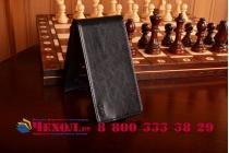 Вертикальный откидной чехол-флип для lg g4 черный кожаный