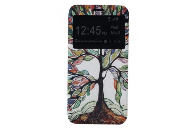 """Чехол-книжка с безумно красивым расписным рисунком сказачное дерево на lg g5 se h845 / h860n / h850 5.3"""" с окошком для звонков"""