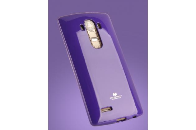 """Ультра-тонкая полимерная из глянцевого блестящего """"мармеладного"""" силикона задняя панель-чехол-накладка для lg g5 se h845 / h860n / h850 5.3"""" фиолетовая"""