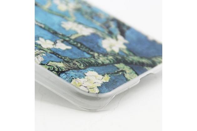 """задняя панель-крышка-накладка из тончайшего и прочного пластика для lg g5 se h845 / h860n / h850 5.3"""" с 3d объёмным рисунком """"тематика цветущая вишня"""""""