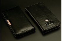 """Фирменый чехол-портмоне-клатч-кошелек на силиконовой основе из цельного куска кожи с металлической застёжкой для lg g5 se h845 / h860n / h850 5.3"""" черный"""