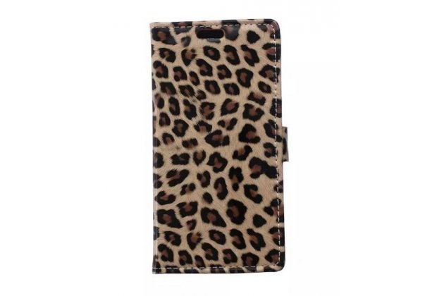Чехол-защитный кожух для lg joy h220n леопардовый коричневый