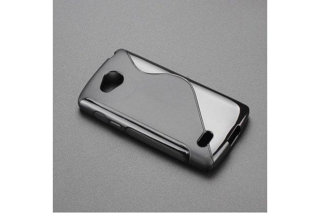 Ультра-тонкая полимерная из мягкого качественного силикона задняя панель-чехол-накладка для lg joy h220n черная