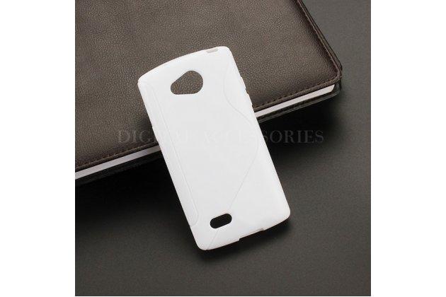 Ультра-тонкая полимерная из мягкого качественного силикона задняя панель-чехол-накладка для lg joy h220n белая