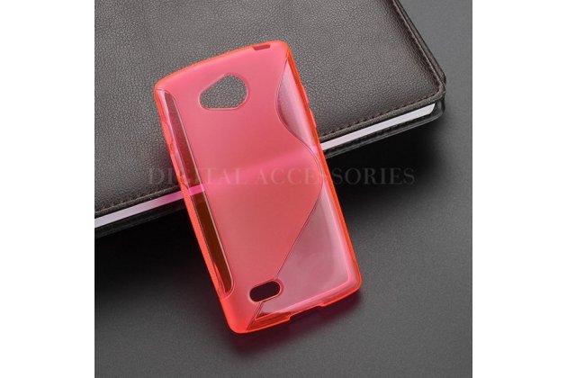 Ультра-тонкая полимерная из мягкого качественного силикона задняя панель-чехол-накладка для lg joy h220n красная