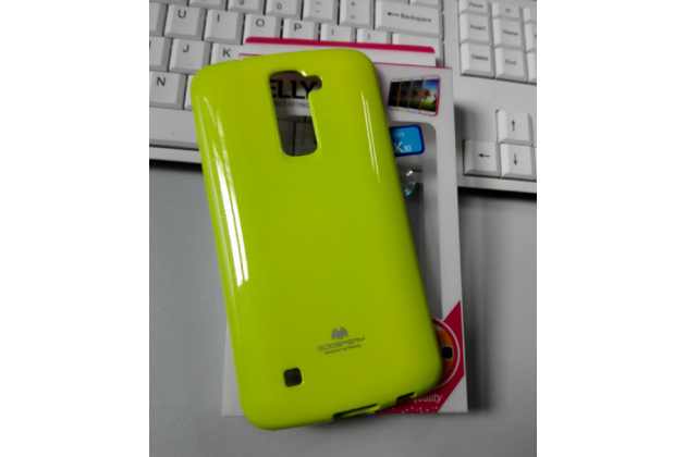 """Ультра-тонкая полимерная из мягкого качественного силикона задняя панель-чехол-накладка для lg k10 / m2 (k410 / k420n / k430n / k430 dual sim lte) 5.3""""  зеленая"""
